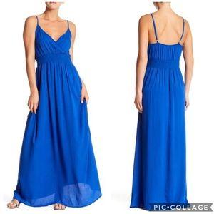 NWT West Key Cobalt Sleeveless Gauze Maxi Dress